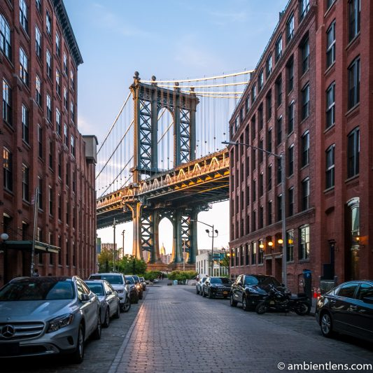 Manhattan Bridge from Washington Street, Brooklyn (SQ)