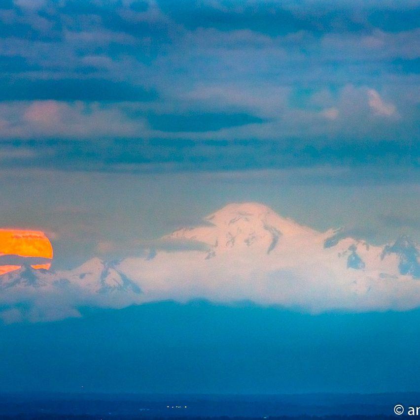 Mount Baker Moonrise 1