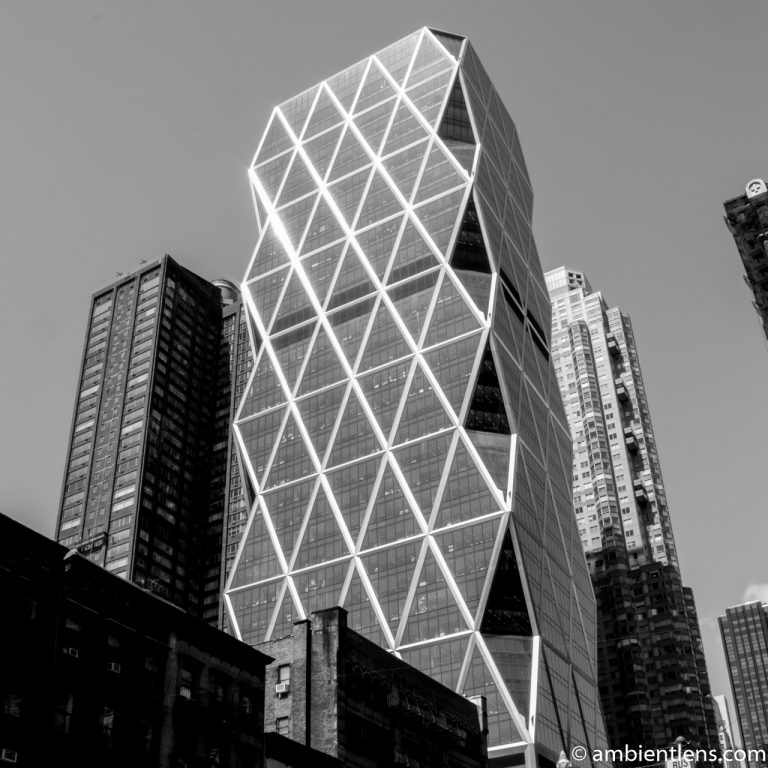 The Hearst Tower in New York 2 (BW SQ)