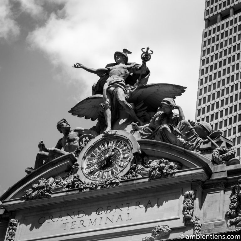 Grand Central Station Sculpture, New York 1 (BW SQ)