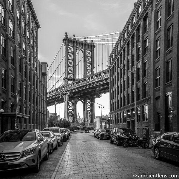 Manhattan Bridge from Washington Street, Brooklyn (BW SQ)