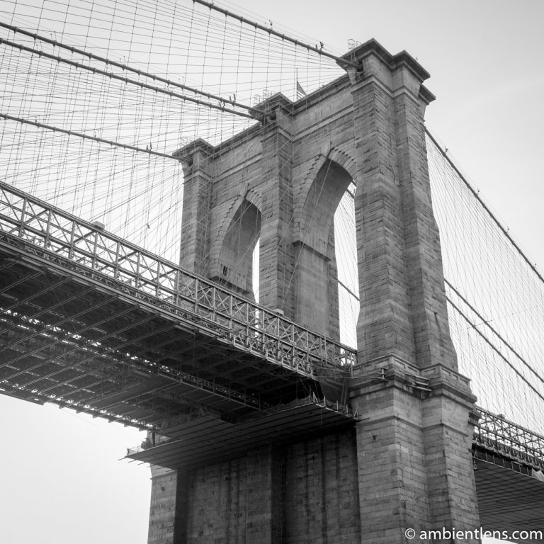 Brooklyn Bridge, NY 1 (BW SQ)