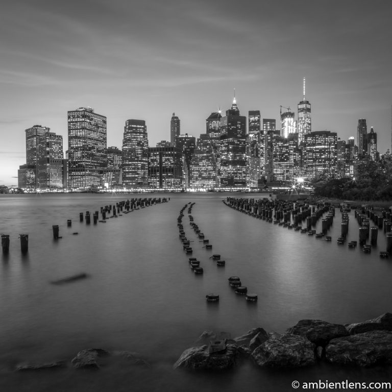 Remnants of an Old Dock in Brooklyn (BW SQ)