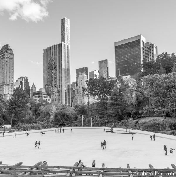 Central Park's Wollman Rink (BW SQ)