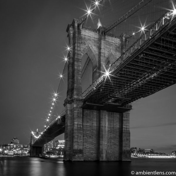 Brooklyn Bridge in Blue Light 5 (BW SQ)