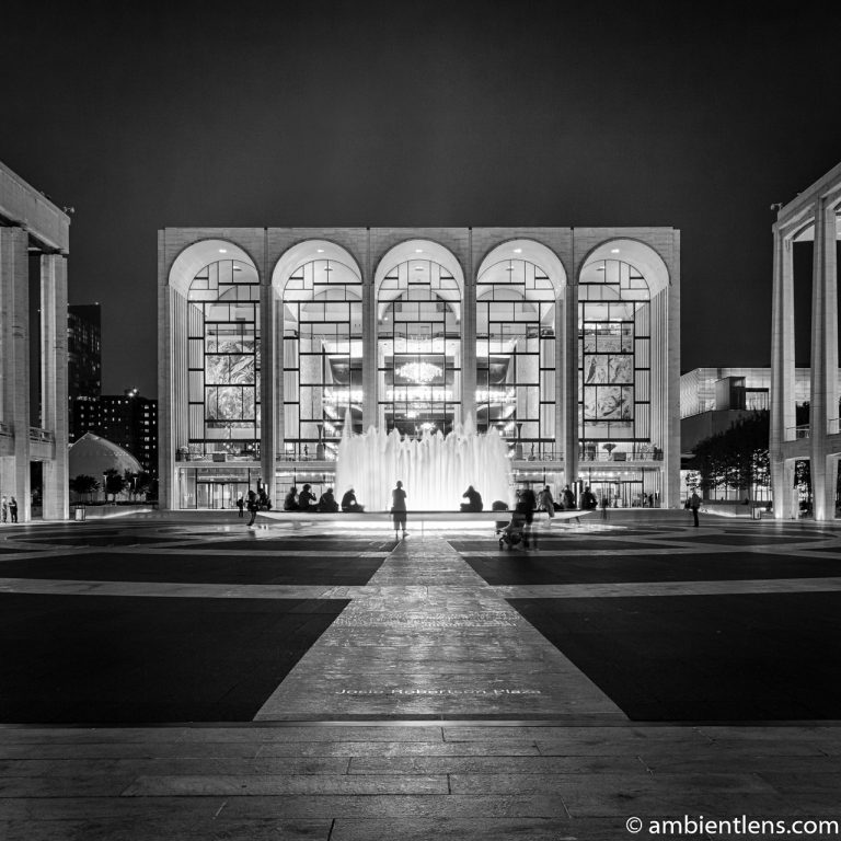 Lincoln Center at Night (BW SQ)
