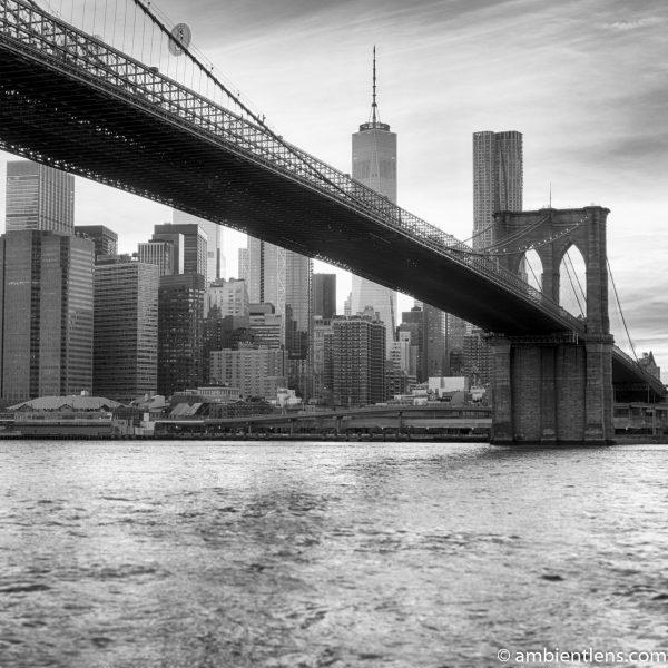 Sunset in Lower Manhattan, New York 5 (BW SQ)