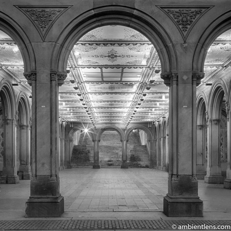 The Interior of Central Park's Bethesda Terrace 1 (BW SQ)