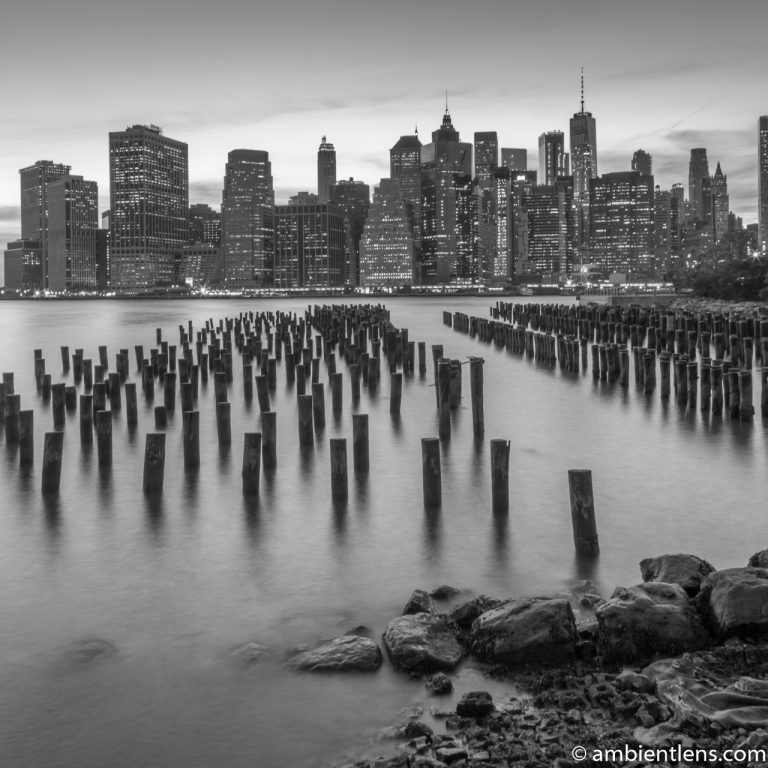 Remnants of an Old Dock in Brooklyn 4 (BW SQ)