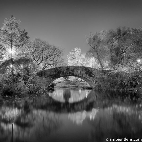 Central Park's Gapstow Bridge at Night 3 (BW SQ)