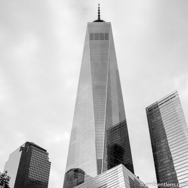 New York's Freedom Tower at Sunset 1 (BW SQ)