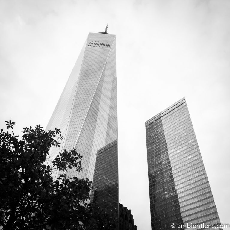 New York's Freedom Tower at Sunset 2 (BW SQ)