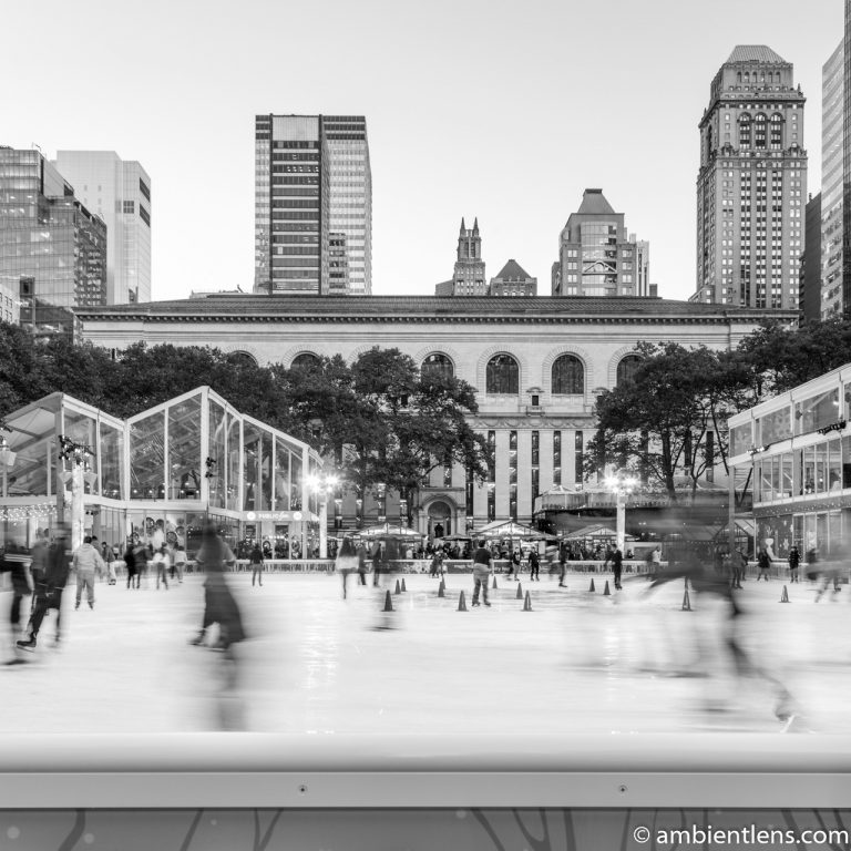 Bryant Park Skating Rink, New York (BW SQ)