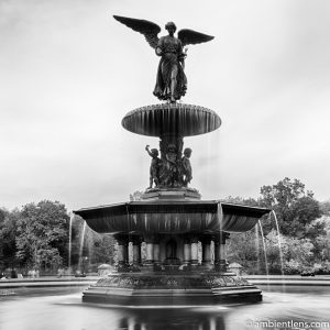 Bethesda Fountain Angel, Central Park, New York 4 (BW SQ)