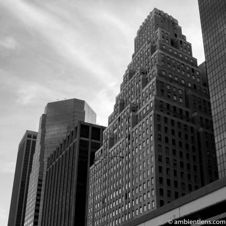 Lower Manhattan Buildings, New York 1 (BW SQ)