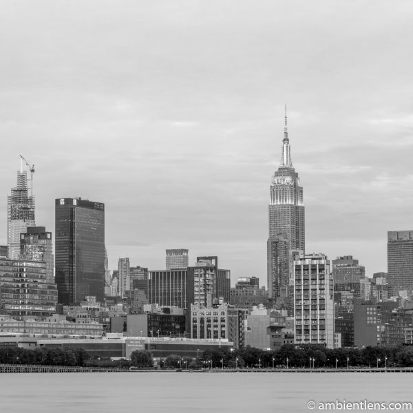 Midtown Manhattan and the Hudson River at Sunset 5 (BW SQ)