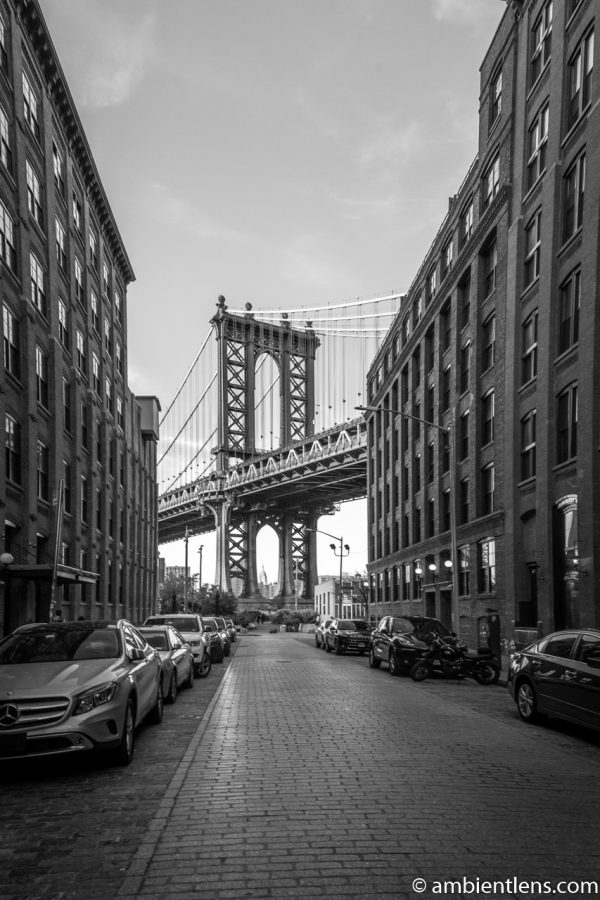 Manhattan Bridge from Washington Street, Brooklyn (BW)