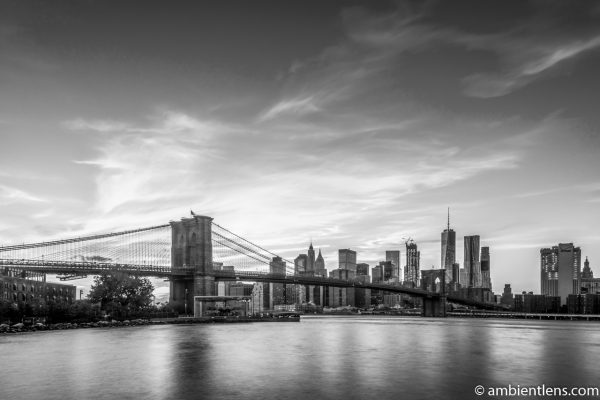 Sunset in Lower Manhattan, New York (BW)