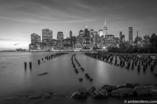 Remnants of an Old Dock in Brooklyn (BW)