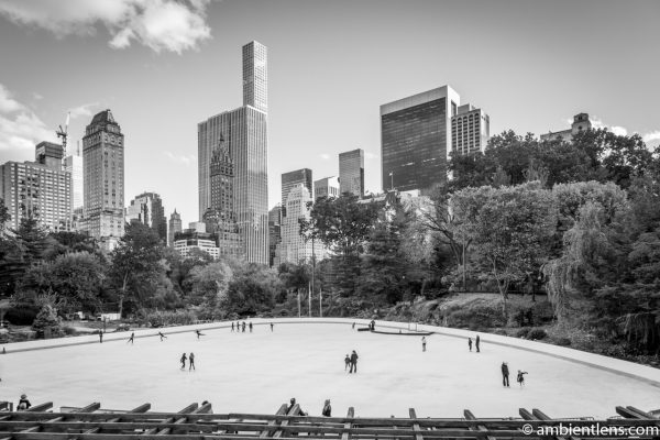 Central Park's Wollman Rink (BW)