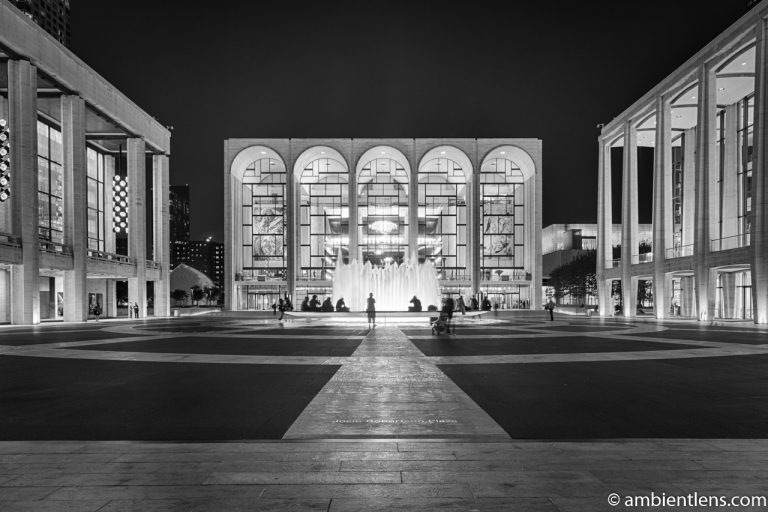Lincoln Center at Night (BW)