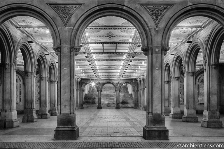 The Interior of Central Park's Bethesda Terrace 1 (BW)