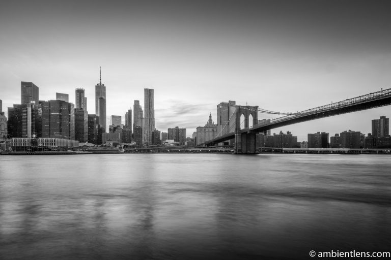 Sunset in Lower Manhattan, New York 2 (BW)