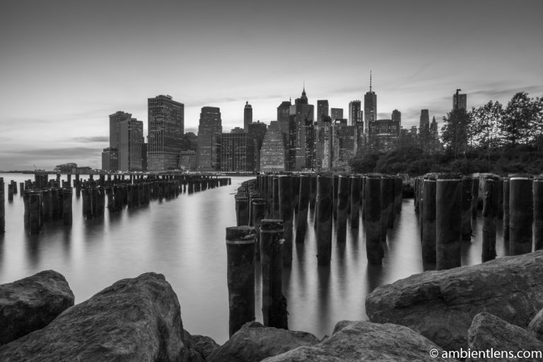 Remnants of an Old Dock in Brooklyn 2 (BW)