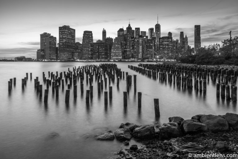 Remnants of an Old Dock in Brooklyn 4 (BW)