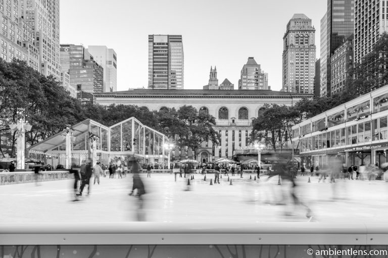 Bryant Park Skating Rink, New York (BW)