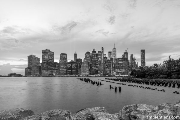 Remnants of an Old Dock in Brooklyn 5 (BW)