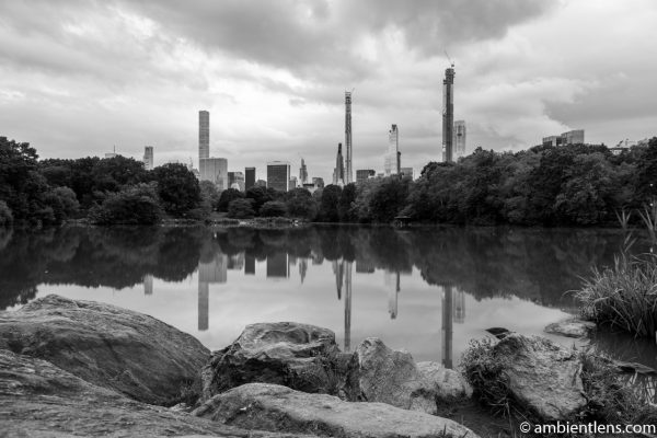 Reflection on The Lake at Central Park 8 (BW)
