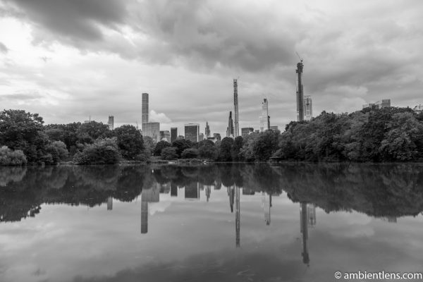 Reflection on The Lake at Central Park 7 (BW)