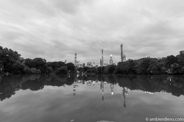 Reflection on The Lake at Central Park 6 (BW)