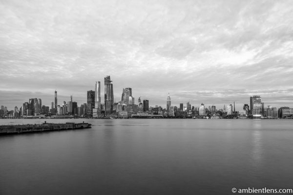 Midtown Manhattan and the Hudson River at Sunset 4 (BW)