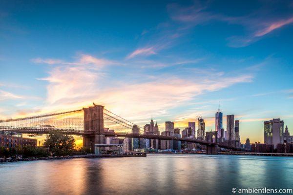 Sunset in Lower Manhattan, New York