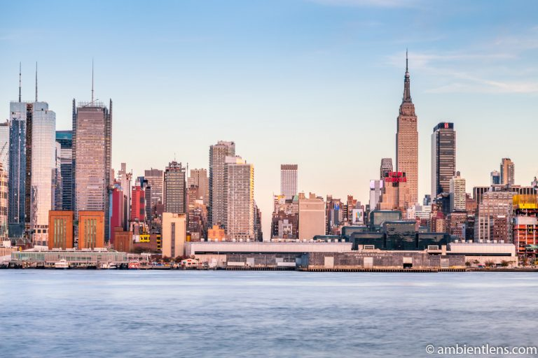 Midtown Manhattan and the Hudson River at Sunset 1