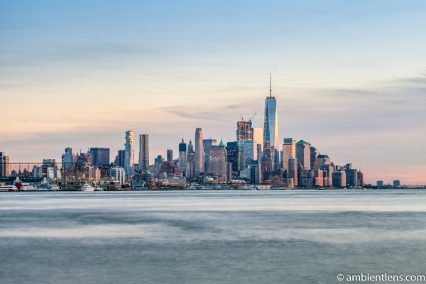 Lower Manhattan and the Hudson River at Sunset 1