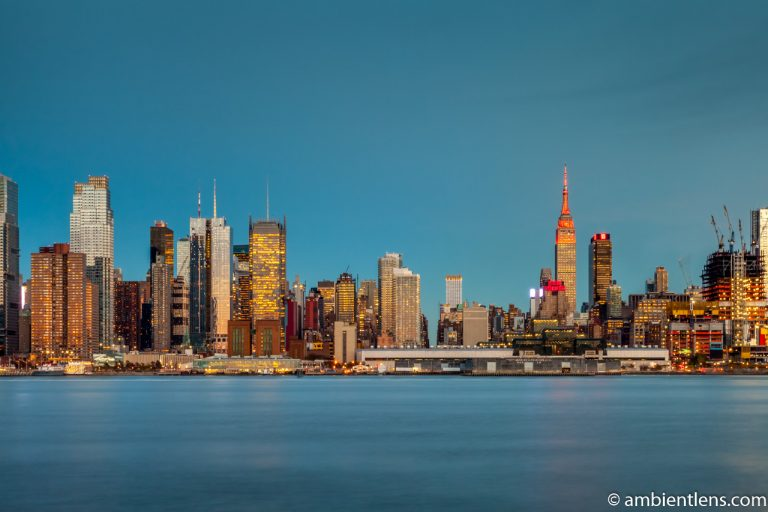 Midtown Manhattan and the Hudson River at Sunset 2