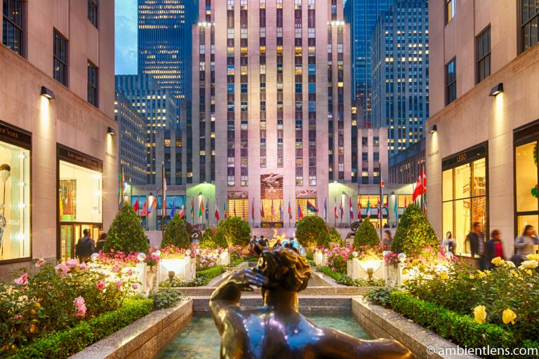 The Channel Gardens at Rockefeller Center, New York 1
