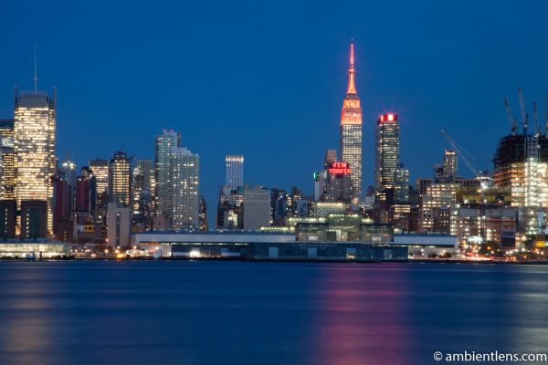 Midtown Manhattan and the Hudson River at Sunset 3