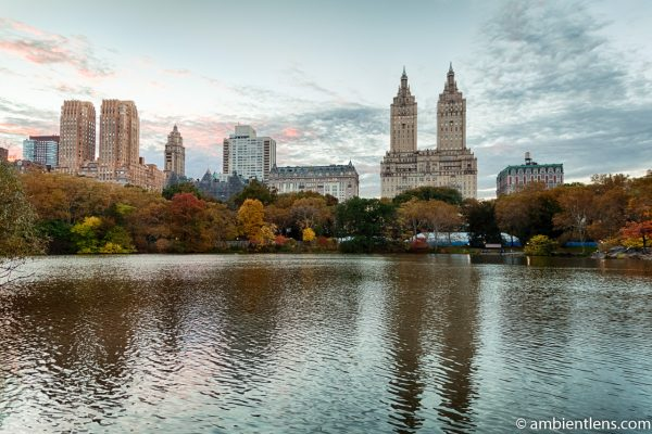 The Lake at Central Park and Upper West Side Buildings 2