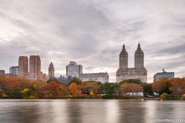 The Lake at Central Park and Upper West Side Buildings 4