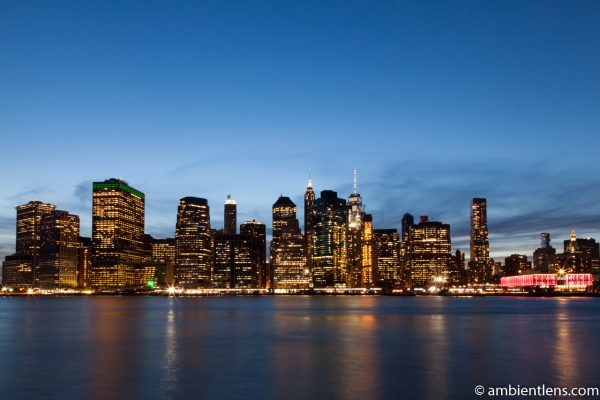 Lower Manhattan and the East River after Sunset 1