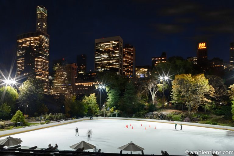 Central Park's Wollman Rink at Night