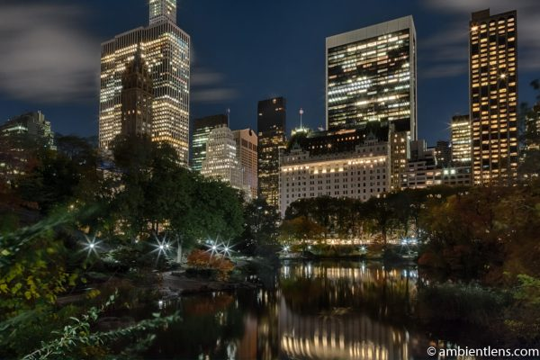 The Pond in Central Park at Night 1
