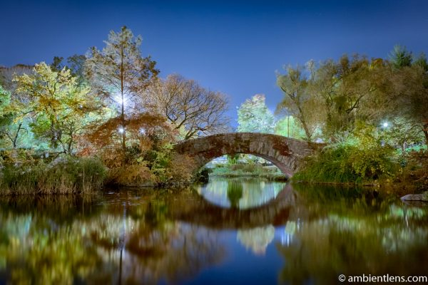 Central Park's Gapstow Bridge at Night 3