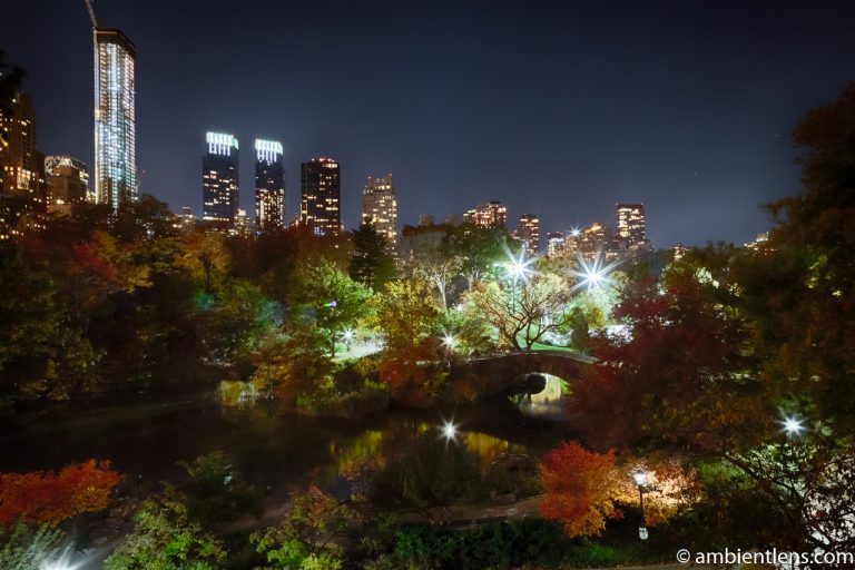Central Park's Gapstow Bridge at Night 4