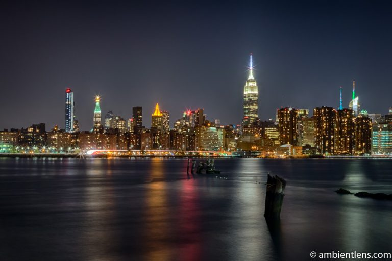 Midtown Manhattan and the East River at Night