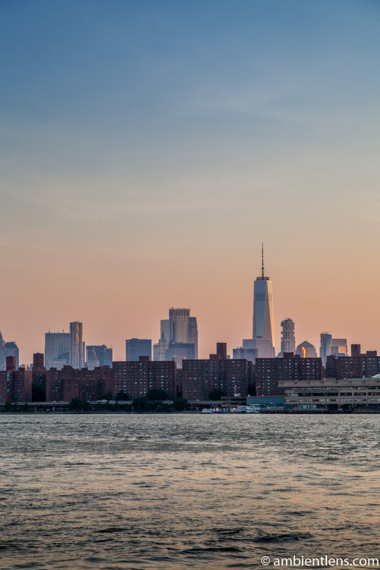 Lower Manhattan and the East River at Sunset 2